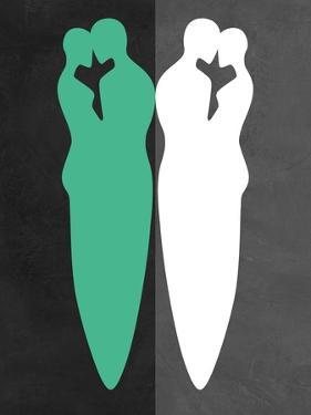 Green and White Kiss by Felix Podgurski
