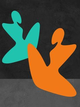 Orange and Blue Girls by Felix Podgurski