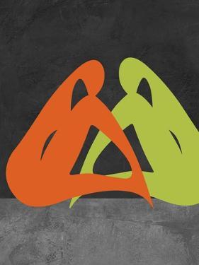 Orange and Green Women by Felix Podgurski