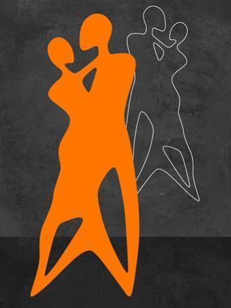 Orange Couple Dancing by Felix Podgurski