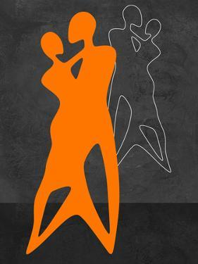 Orange Couple Dancing by Felix Podgurski