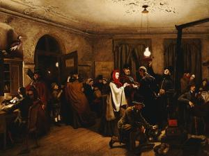 The Departure for America, 1859 by Felix Schlesinger