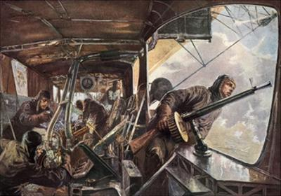 In the Back of a Zeppelin While Returning after a Succesful Attack on England