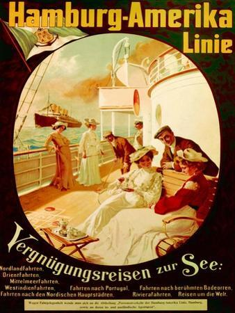'Pleasure Cruise on the Sea', Poster Advertising the Hamburg American Line, 1904