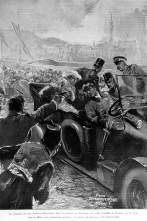 The Assassination of the Archduke Franz Ferdinand and His Wife Sophie, Duchess of Hohenberg, 1914
