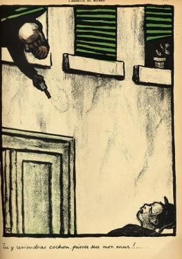 A Bourgeois Fires from His Window on a Passerby, from 'Crimes and Punishments' by Félix Vallotton