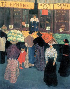 At the Market by Félix Vallotton