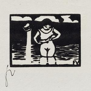 Girl Removing Her Shirt, VI from 'Les Petites Baigneuses', 1893 by Félix Vallotton