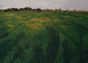 Green Oat Field by Félix Vallotton