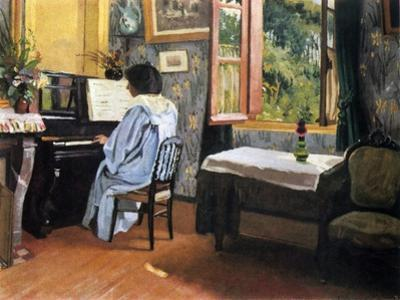 Lady at the Piano, 1904 by Félix Vallotton