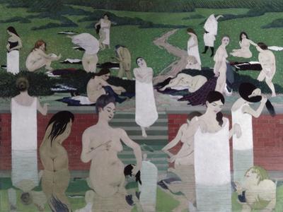 Le Bain au Soir D'Ete by Félix Vallotton