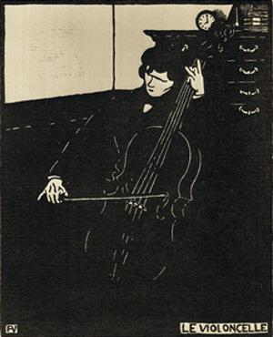 Le Violoncelle by Félix Vallotton