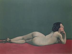 Nude Stretched Out on a Piece of Cloth, 1909 by Félix Vallotton