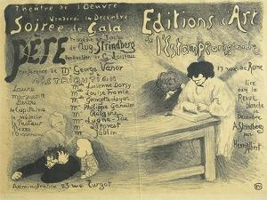 Paris Opera Programme, Including Works by August Strindberg, 1894 by Félix Vallotton
