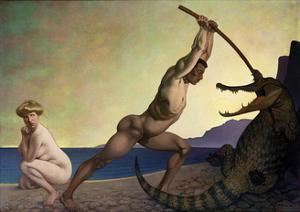 Perseus Slaying the Dragon by Félix Vallotton
