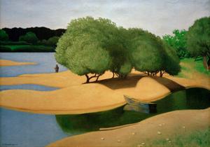 Sandbanks on the Loire by Félix Vallotton