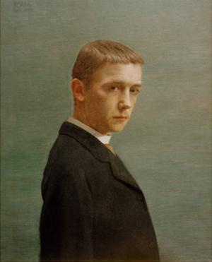 Self-Portrait at the Age of Twenty by Félix Vallotton