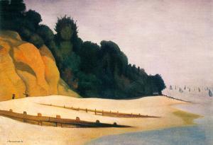 Felix Vallotton Shore Scene with Tree Silhouette Art Print Poster