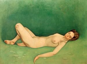 Sleeping Bather by Félix Vallotton