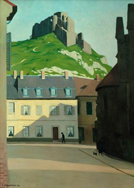 Square in Les Andelys with the Chateau Gaillard by Félix Vallotton