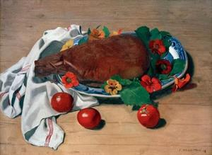 Still life with Ham and Tomatoes by Félix Vallotton