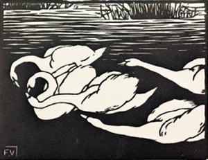 Swans by Félix Vallotton