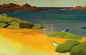 The Bay of Tregastel by Félix Vallotton