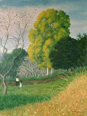 The Green Tree, Cagnes, 1924 by Félix Vallotton