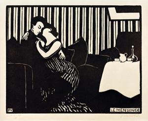 The Lie, 1897 by Félix Vallotton