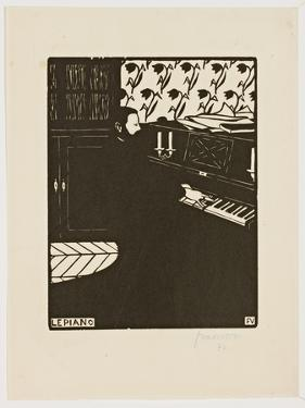 The Piano, from the Series 'Musical Instruments', 1896-97 by Félix Vallotton