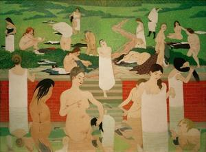 The Pool on a Summer's Eve by Félix Vallotton
