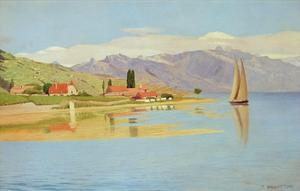 The Port of Pully by Félix Vallotton