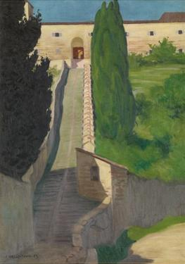 The Steps of the Convent of San Marco, Perugia, 1913 by Félix Vallotton