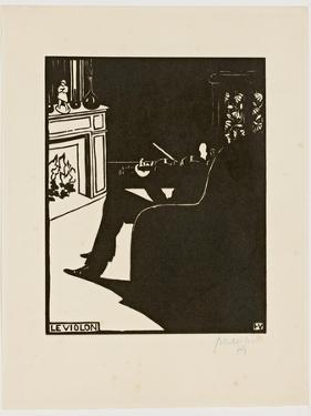 The Violin, from the Series 'Musical Instruments', 1896-97 by Félix Vallotton