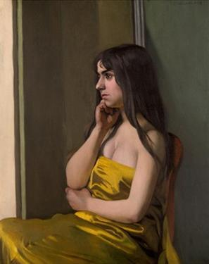 The Yellow Fabric by Félix Vallotton