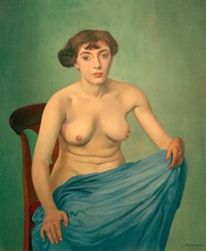 Torso with Blue Cloth by Félix Vallotton