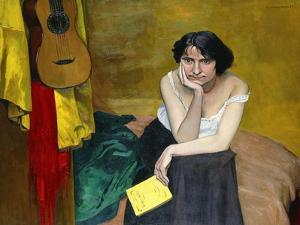 Woman and Guitar; Femme et Guitare, 1913 by Félix Vallotton