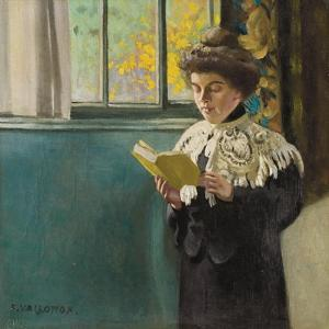 Woman Reading by a Window, c.1904 by Félix Vallotton