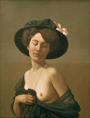 Woman with Black Hat by Félix Vallotton