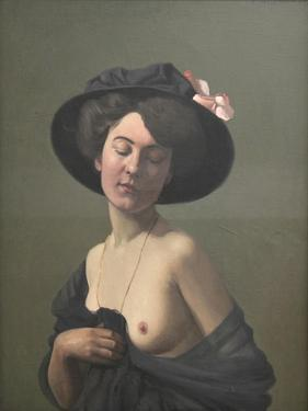 Young Woman in a Black Hat, 1908 by Félix Vallotton