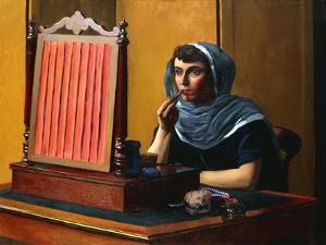 Young Woman Putting on Lipstick; Jeune Femme Se Mettant Du Rouge a Levres, 1925 by Félix Vallotton