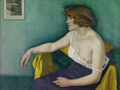 Young Woman Seated in Profile, 1914 by Félix Vallotton