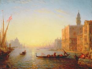 Venice, Evening by Felix Ziem