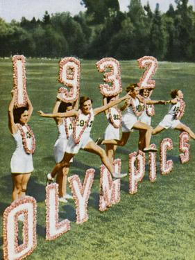Female Athletes Perform a Routine to Publicise the 1932 Los Angeles Olympics