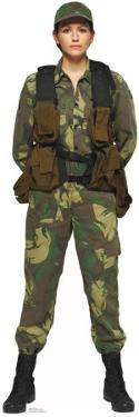 Female Solider Lifesize Standup