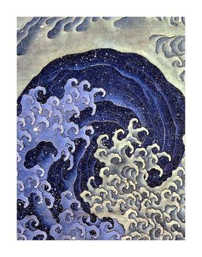 Feminine Wave Hokusai Art Print Poster