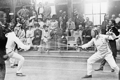 Fencing Competition in the 1912 Olympics in Stockholm