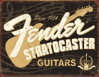 Fender Stratocaster 60th Tin Sign