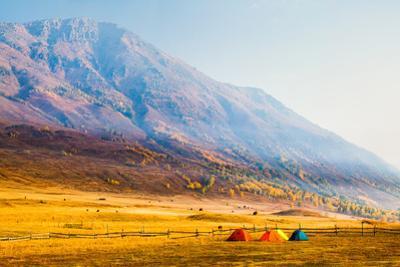 Autumn Mountains, Hemu, Xinjiang China by Feng Wei Photography