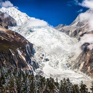 Glacier beneath on Mount Gongga by Feng Wei Photography